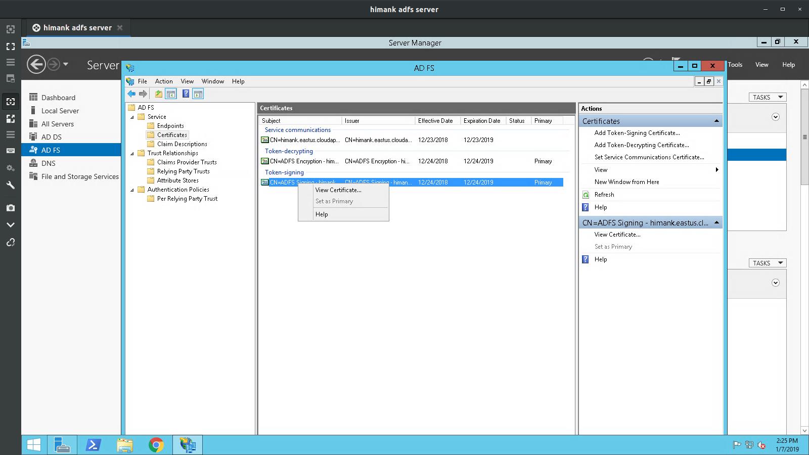 Help Center - Microsoft ADFS